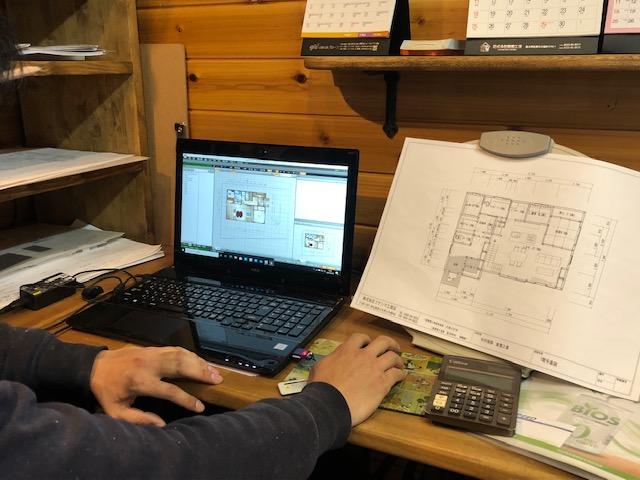 フクシマ工務店CAD操作風景